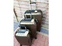 New boxed gold luggages