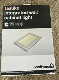 Four under cabinet integrated lights