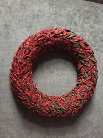 Hand made traditional 30cm Christmas wreath