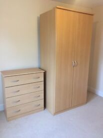 Bedroom Wardrobe and Chest of Drawers REDUCED FOR QUICK SALE
