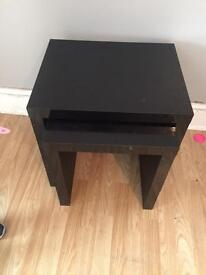 Black gloss side tables