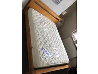 Kingsize Wooden Bed, Mattress & Bedside Cabinets