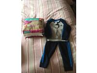 Adidas tracksuit and nsppies