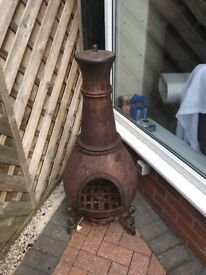 Cast iron chimnea and cover for sale very Heavey