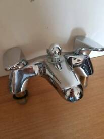 Chrome bath mixer