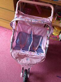 Baby born double pushchair