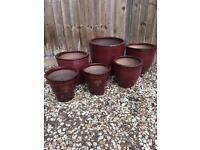 Assorted flowerpots