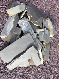 Slate rockery stones