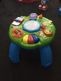 Leap frog stand and play