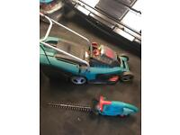 Bosch Cordless Lawnmower and electric trimmers
