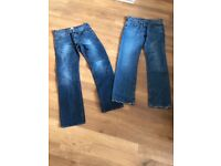 2 pairs of men's jeans (Hugo Boss, Jack Wills)