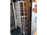 2 Tall Used Shop Display Stands in Great Condition on Wheels