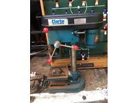 Clarke small pillar drill, with vice