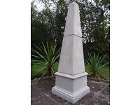 Architectural White Marble Egyptian Style Stone Obelisk Garden Water Fountain