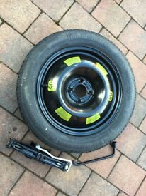 DS3 space saver wheel , brace and jack £70