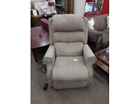 Brown/Oatmeal Kingsley Fabric Rising Recliner Armchair