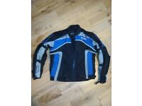 Mens fabric motorcycle jacket size 2XL, armor, waterproof