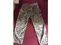 "Combat trousers in excellent condition. Worn twice only. Size 31"" leg and 32/34"" waist."