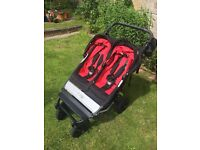 Mountain buggy duet ( chilli red and black) double buggy/ pushchair