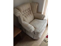 Free armchair and storage pouffee