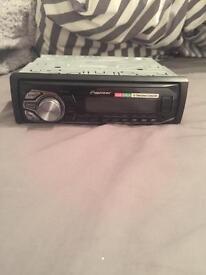 Pioneer single din car radio