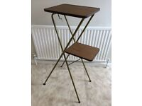 Vintage retro foldable projector table