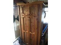 Large Pine wardrobe for sale - Millbrook