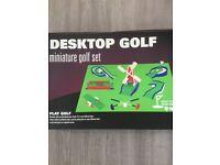 Table top/desktop golf game