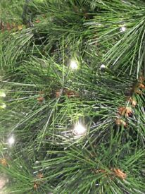 5 foot Prelit Christmas tree with free gold / silver decorations - as new