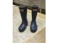 Kids' Hunter wellies - navy blue, size 10