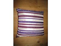 Striped cushion £5