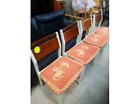 Set of 4 Vintage Retro Dining Chairs