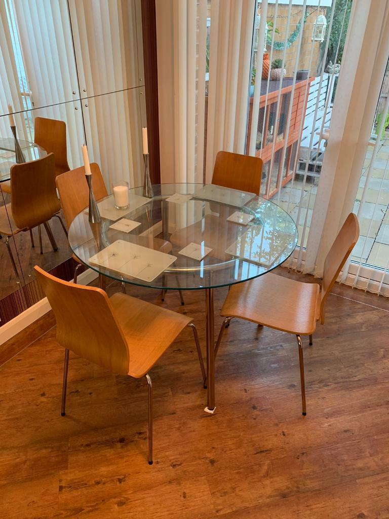Ikea Round Glass Dining Table &Chaire | in Clifton ...