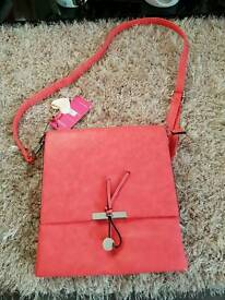 New with tags Superbia coral messenger bag
