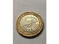 Rare Guy Fawkes Pemember Spelling Mistake Bonfire £2 Coin With 3 Minting Errors Royal Mint