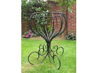 Garden Patio Planter, Metal Flower Fountain Urn.