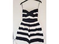 Black and white river island dress