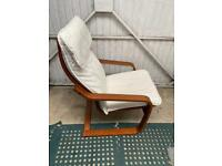 Ikea Poang Adult chair and cream cushion and washable cover. Used