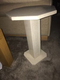 Very heavy marble side table