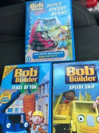 3 bob the builder dvds