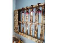 Wine bottles wood rack