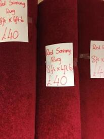 Large red rugs £40