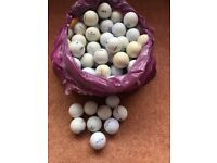 Large bag of misc used golf balls