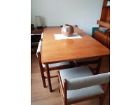Teak Dining Table with/without Chairs