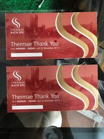 2 Thermal Bath Spa vouchers