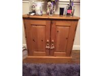 Solid pine sideboard/cupboard unit
