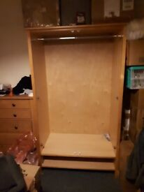 Solid pine wardrobe with drawer need gone asap