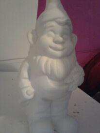 plain ceramic gnome £1