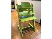 Tripp Trapp High Chair from Stokke with baby seat accessory