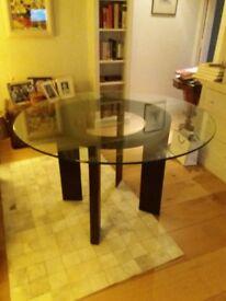 Circular dining table - classy contemporary design (Conran Shop) seats 6. Diameter 120 cm